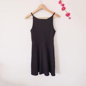 TOPSHOP | Ribbed black minidress